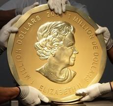 Imagem da notícia: Moeda de ouro entra para o 'guiness'
