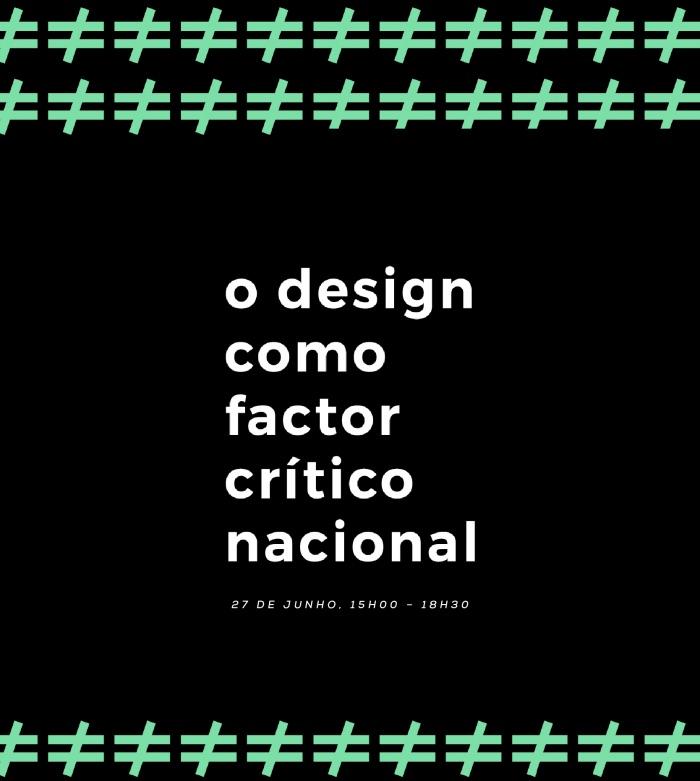 """Imagem da notícia: """"O design como factor crítico nacional"""""""
