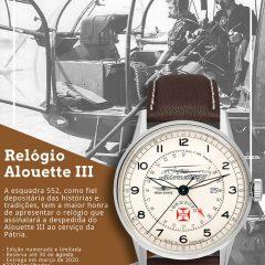 Imagem da notícia: Criado relógio em homenagem a helicóptero da Força Aérea