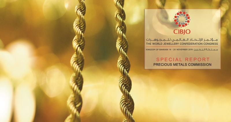 Imagem da notícia: CIBJO lança relatório especial sobre metais preciosos