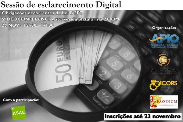Imagem da notícia: APIO organiza sessão sobre obrigações decorrentes da Lei de BCFT