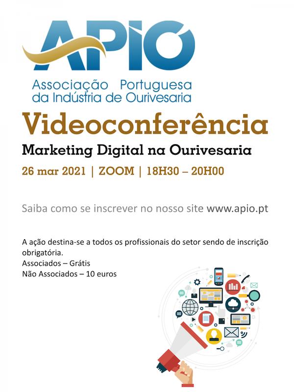 "Imagem da notícia: APIO organiza videoconferência ""Marketing Digital na Ourivesaria"""